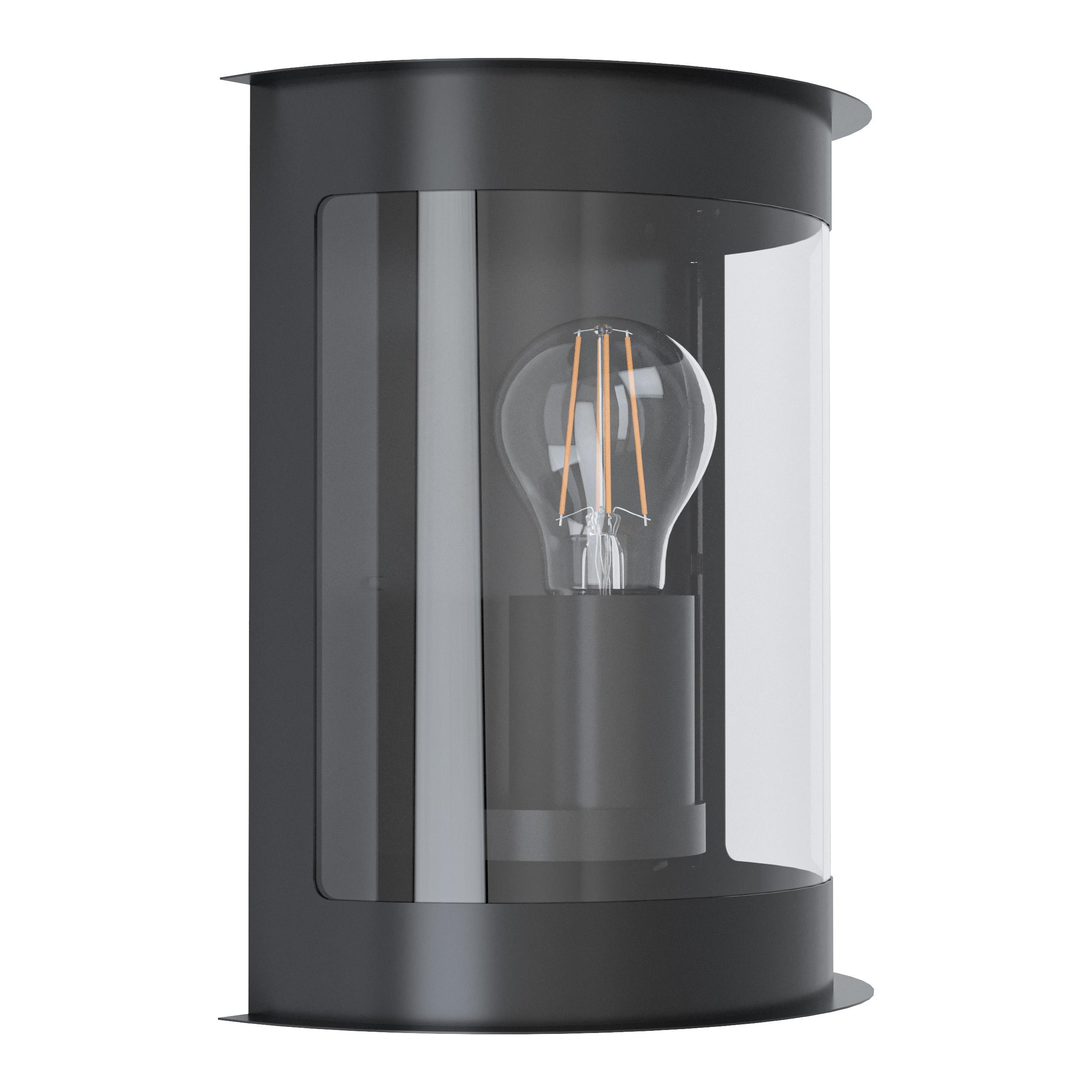 Wandlamp daril 1 verzinkt zwart/helder E27 60W