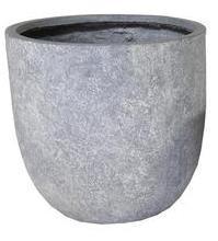 Arizona Egg Pot Washed Grey D45H43