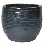 Pot egg ribbel Glazed d34h29 caledon