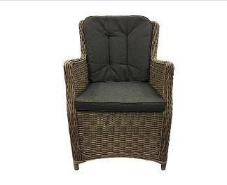 Canossa Dining stoel incl handgreep Wicker HM40 naturel - stof 239