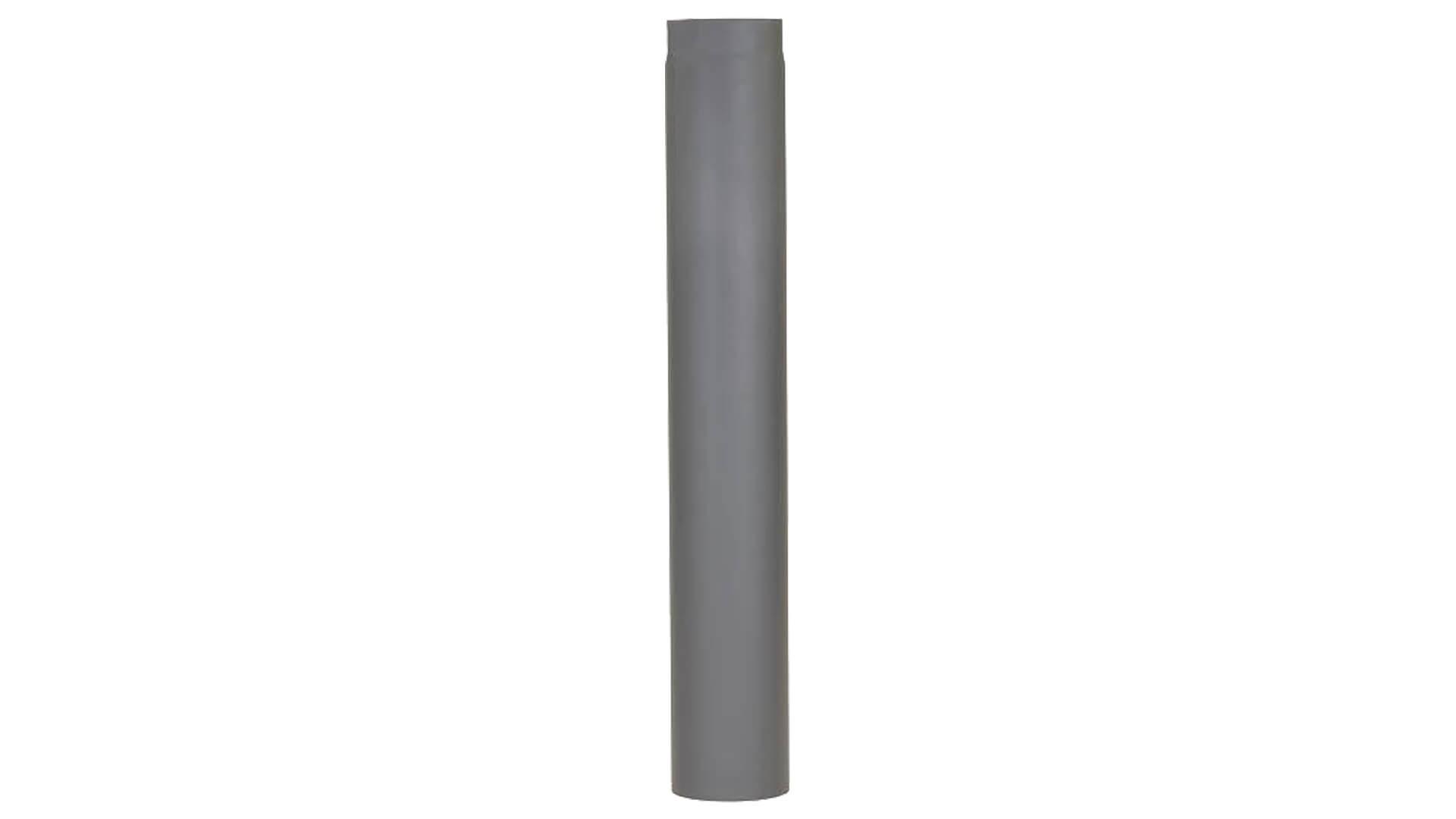 Kachelpijp Cosistove pijp enkelwandig verlengstuk 100 cm zwart