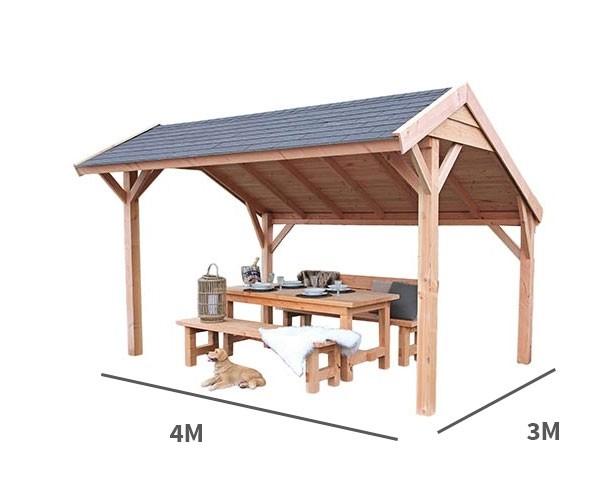 Kapschuur Landleven 400 x 300 cm incl dakbedekking