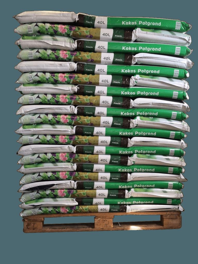 Pallet Kokos grond 40 liter
