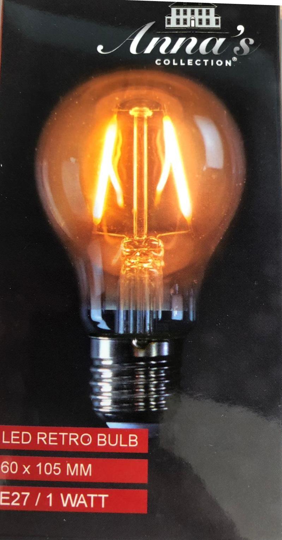 Led party lamp met warm wit filament en e27 fitting