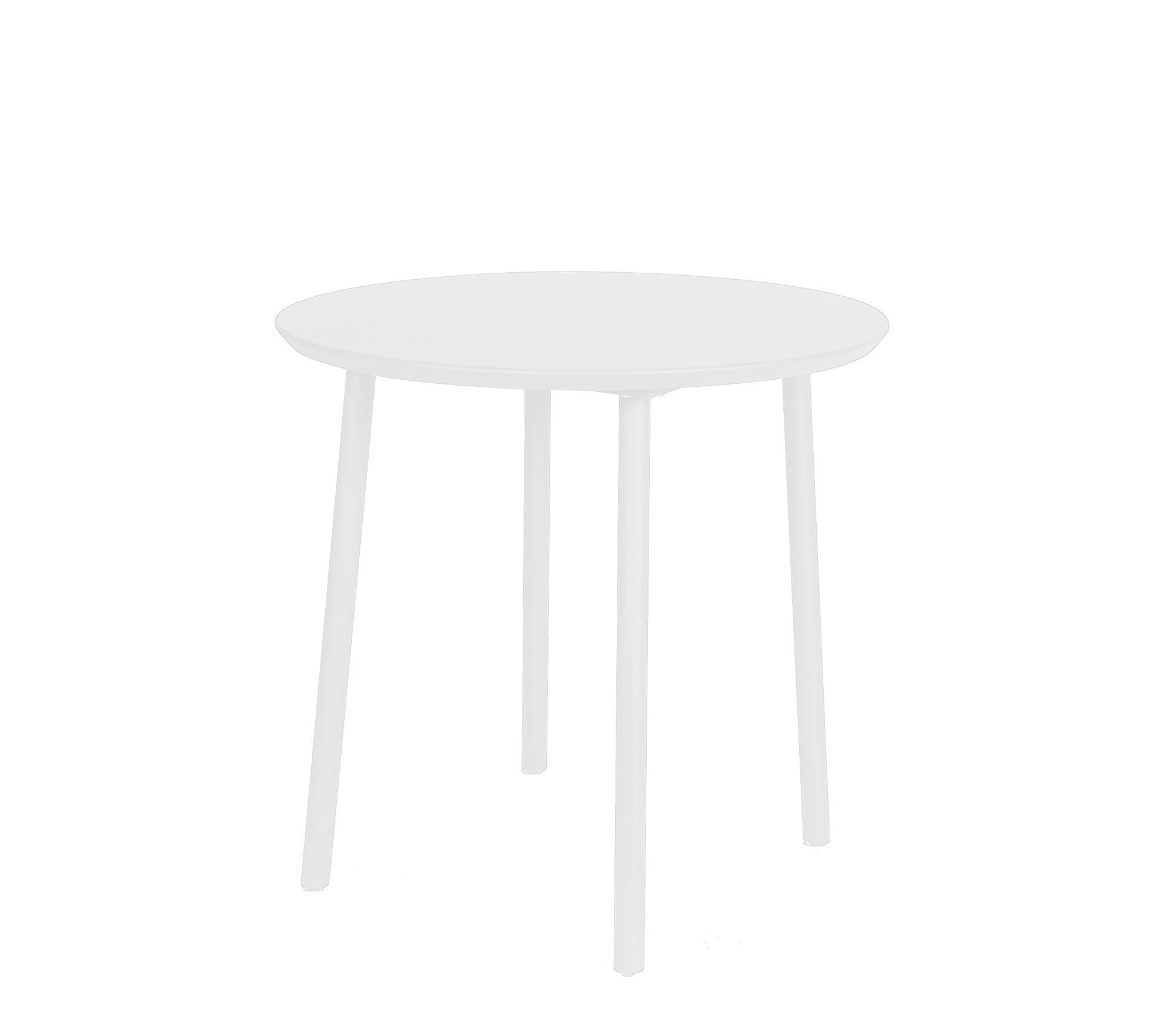 George table diameter80x75 cm alu white