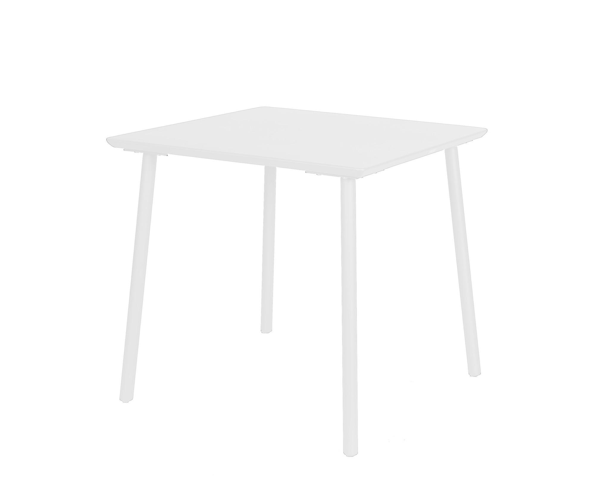 George table 80x80x75 cm alu white