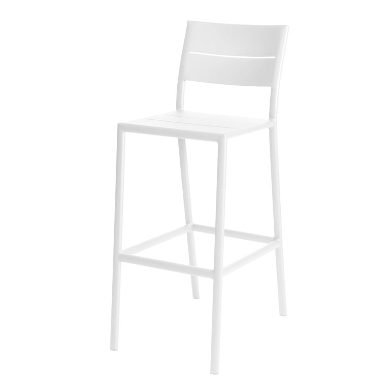 Grace bar chair alu white