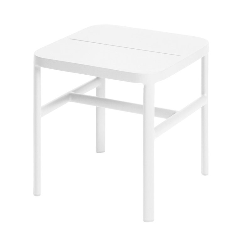 Grace side table 40x40x42 cm alu white