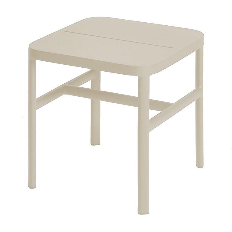 Grace side table 40x40x42 cm alu pearl grey