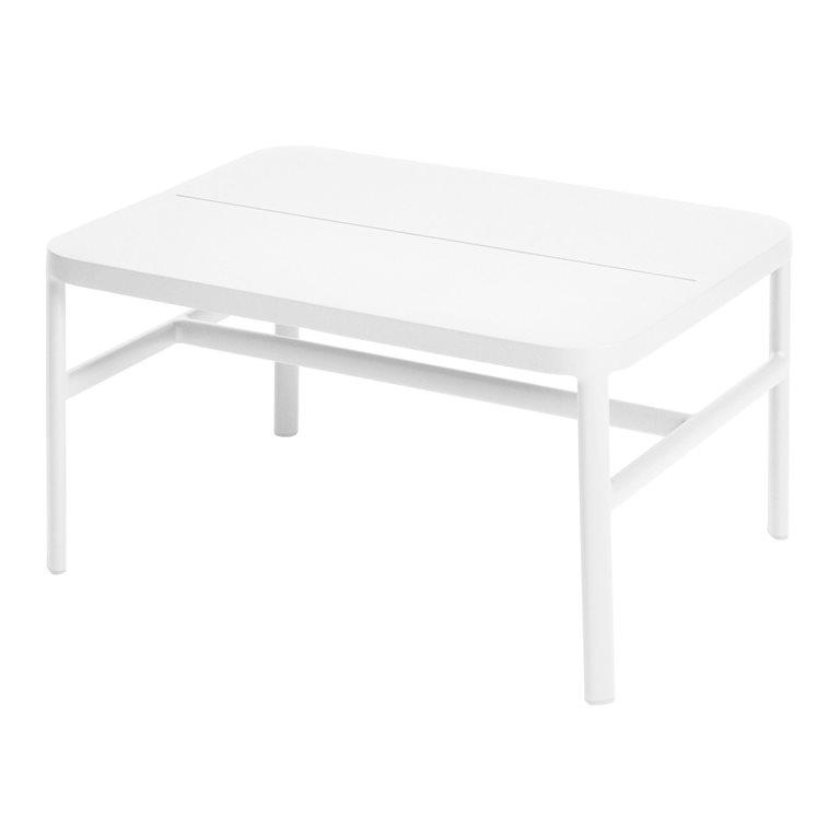Grace coffee table/ottoman 67x50x36 cm alu white