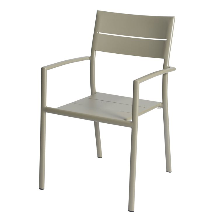 Grace stacking chair alu pearl grey
