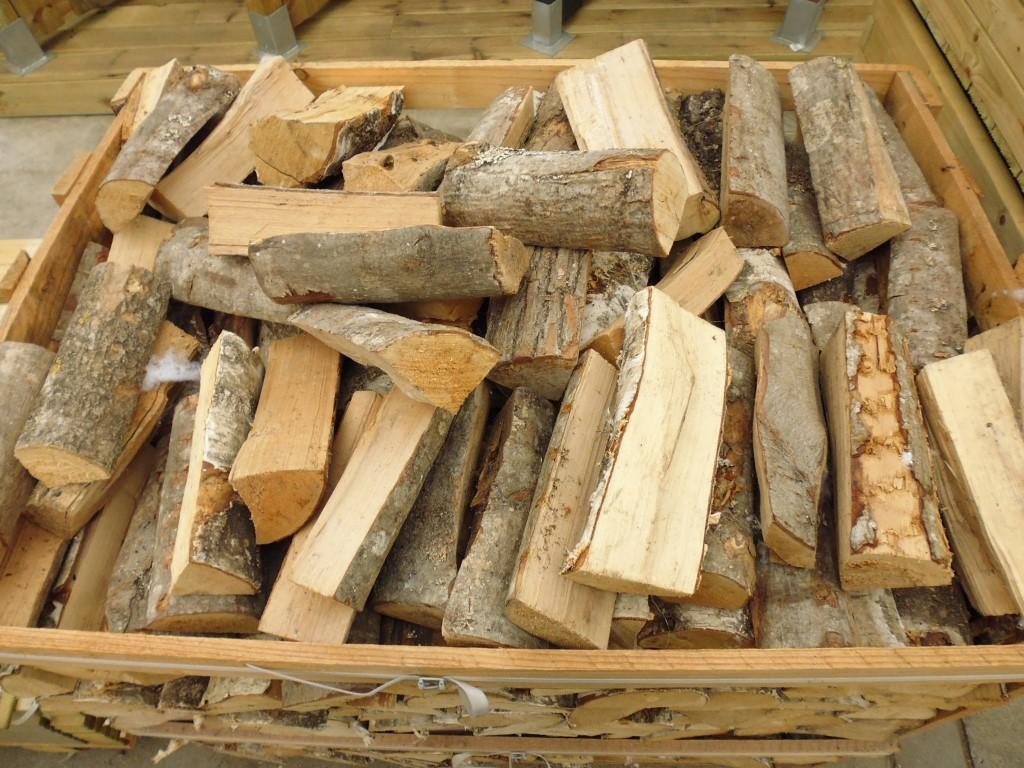 Openhaard berken hout pallet