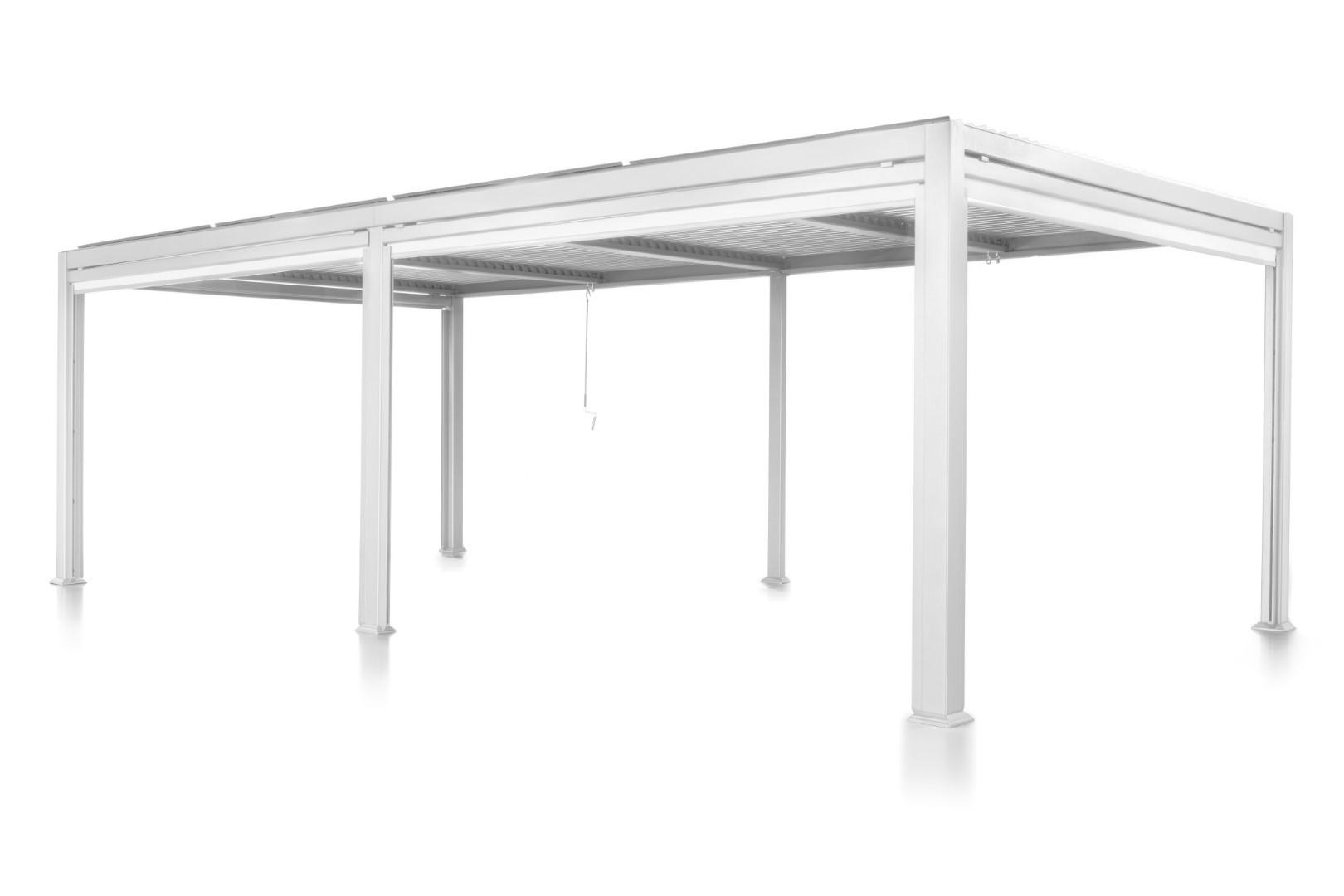 Patio Cover 3.5 bij 7.2 meter Wit Overkapping