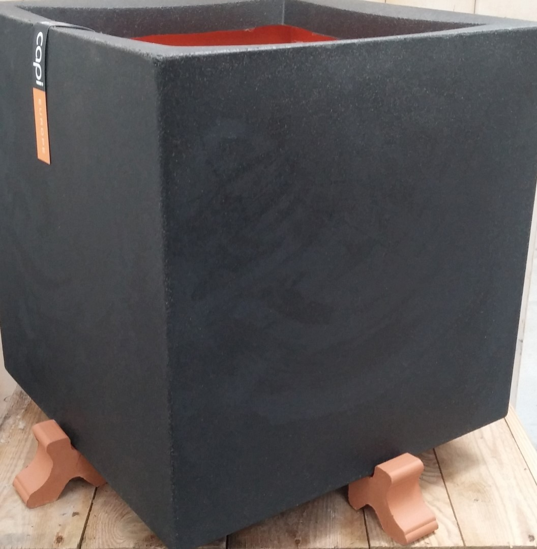 Potcomponent Potzetter Lichtbruin 4 stuks voor een vierkante pot