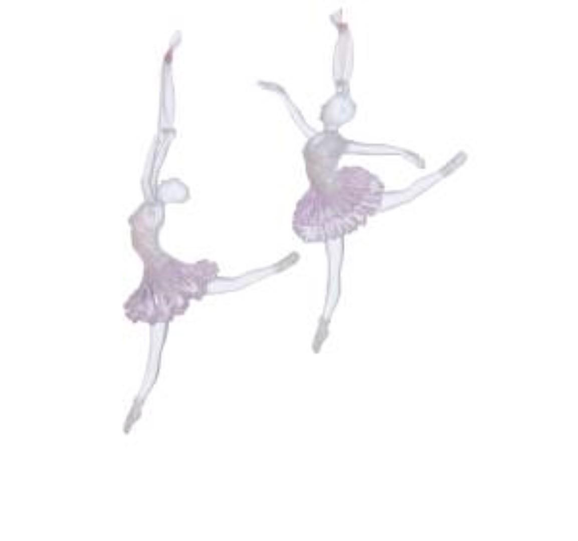 Ballerina Acrylic Clear & Pink 5.25 x 5.75 Inch