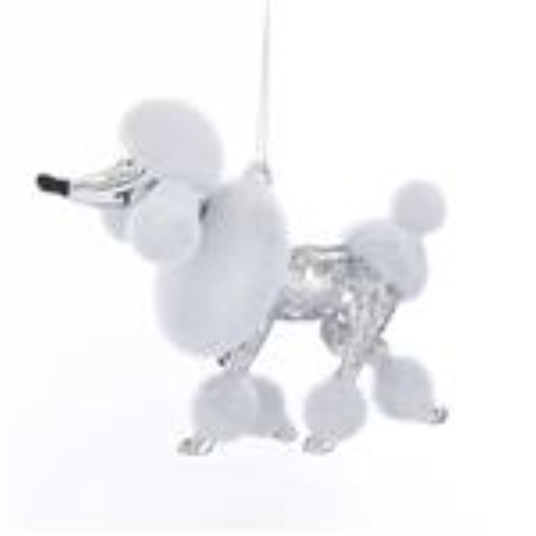 Poodle Shiny Silver 3.9 Inch