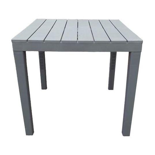 Tafel Bali 80X80Cm Grijs Grey